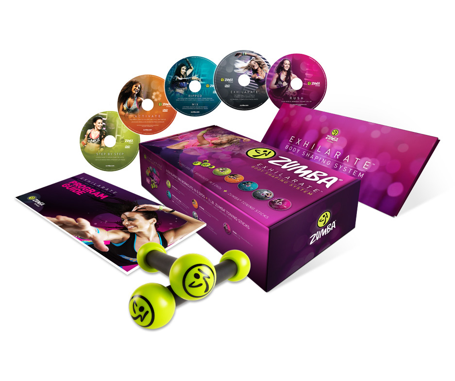 Zumba Fitness Exhilarate Dvd Zumba Exhilarate 4 Dvd Set