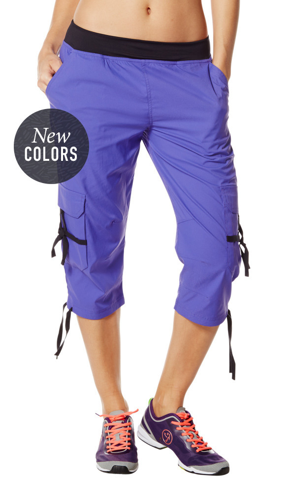 Oh-So-Soft Stretch Cargo Capris | Zumba Fitness Shop