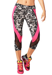Zmoji Mesh Perfect Capri Leggings