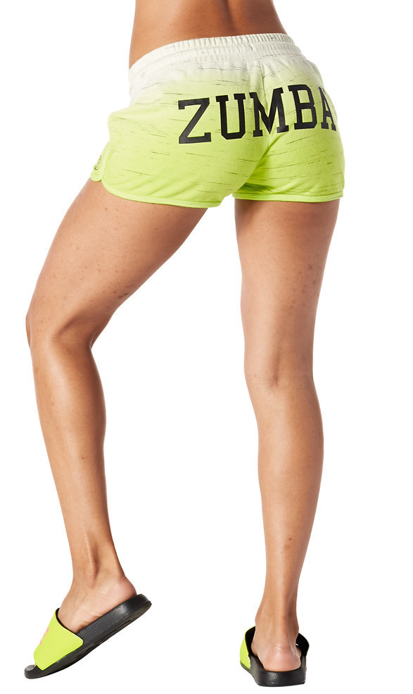 Shocking Pink Z1B00555 Zumba When The Sun Goes Down French Terry Shorts