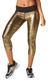 Zumba All Night Metallic Capri Leggings