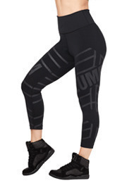 All That Glitters Is Zumba High Waisted Crop Leggings product image