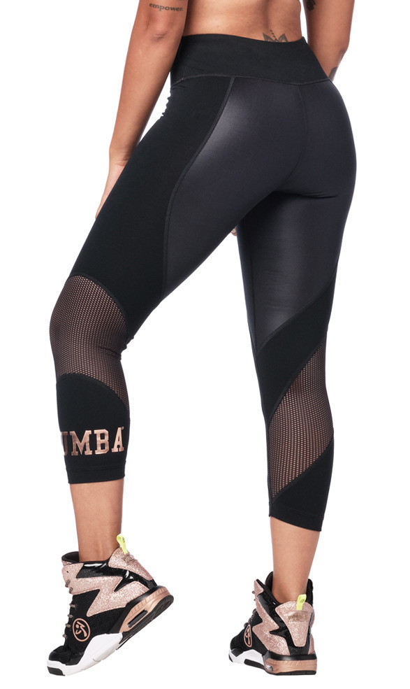 Zumba Dance Tribe Panel Crop Leggings Zumba Fitness Shop