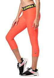 M Zumba Aktiv Fitness Kompression Capri-Leggings Stilvoll Sporthose Damen mit Print Bold Black A