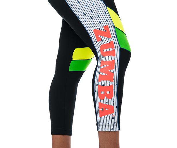 Black ~ All sizes Zumba Celebrate Love Crop Leggings Free Shipping!