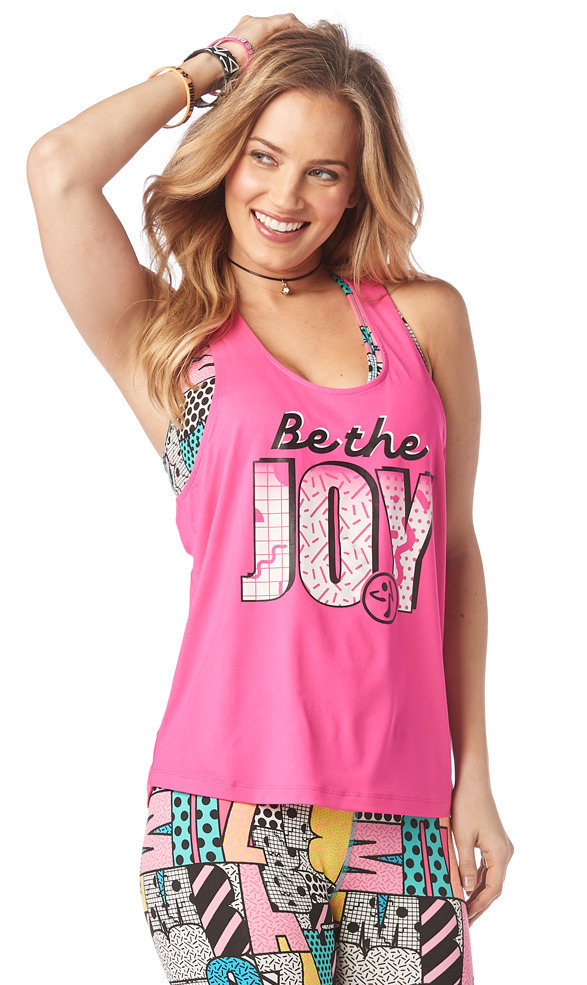 Zumba Be The Joy Loose Tank Top Bold Black ~ All Sizes Available!