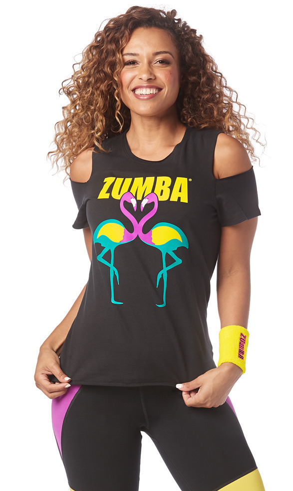 288175e235430f Zumba Happiness Cold Shoulder Top | Zumba Fitness Shop