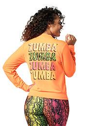 Blue Zumba Feel Free Instructor ZIP UP HOODIE Aspen SIZE XL