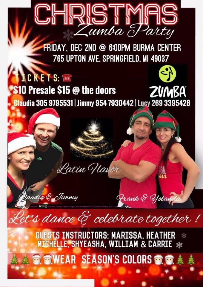 Zumba Christmas Party Images.Zumba Ditch The Workout Join The Party