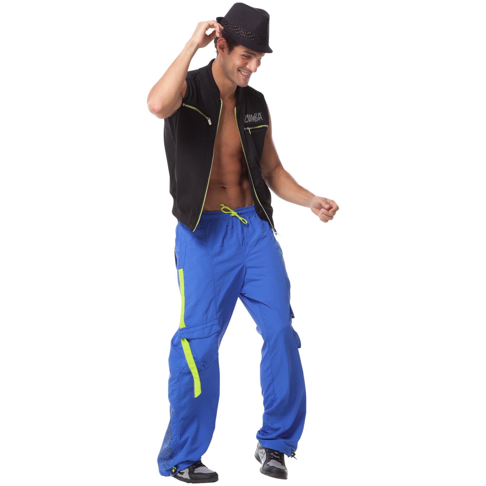 zumba men jump and jive cargo pants blue xl  unisex